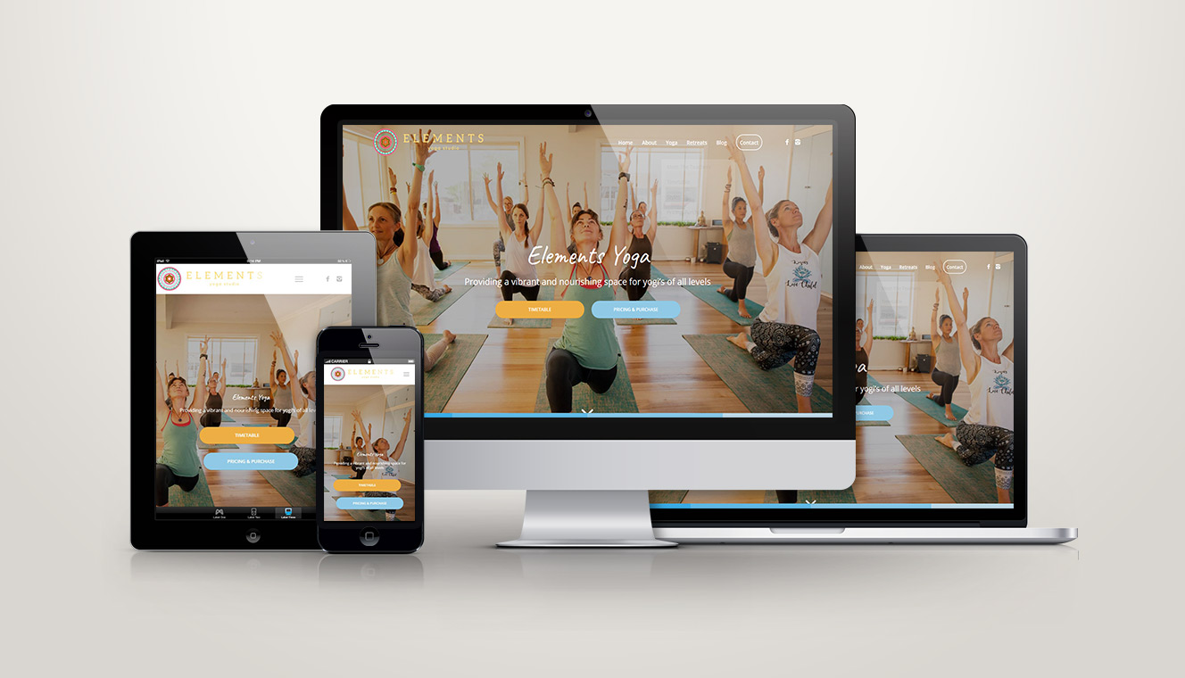 Elements Yoga Website Design